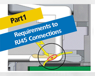 Requirements to RJ45 connections