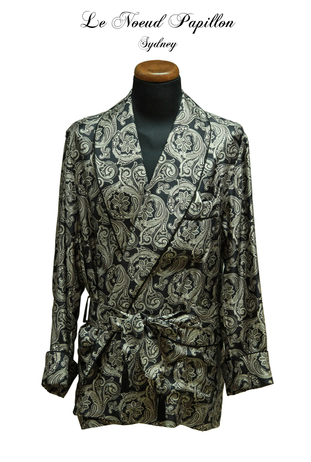 Paisley Silk Dressing Gown Made To Order