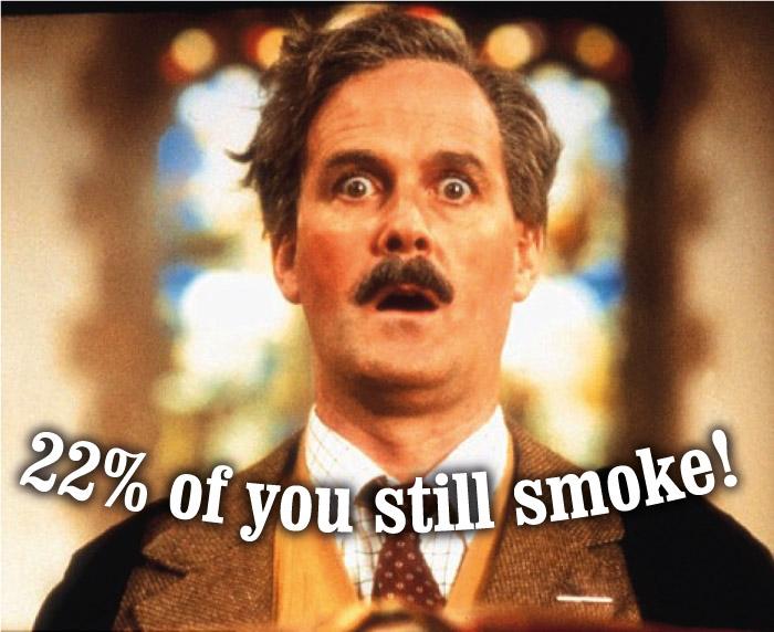 22% of you still smoke