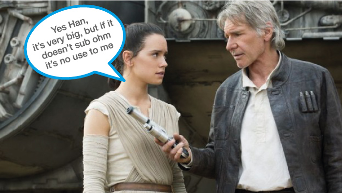 Yes Han, it's very big, but if it doesn't sub ohm it's no use to me