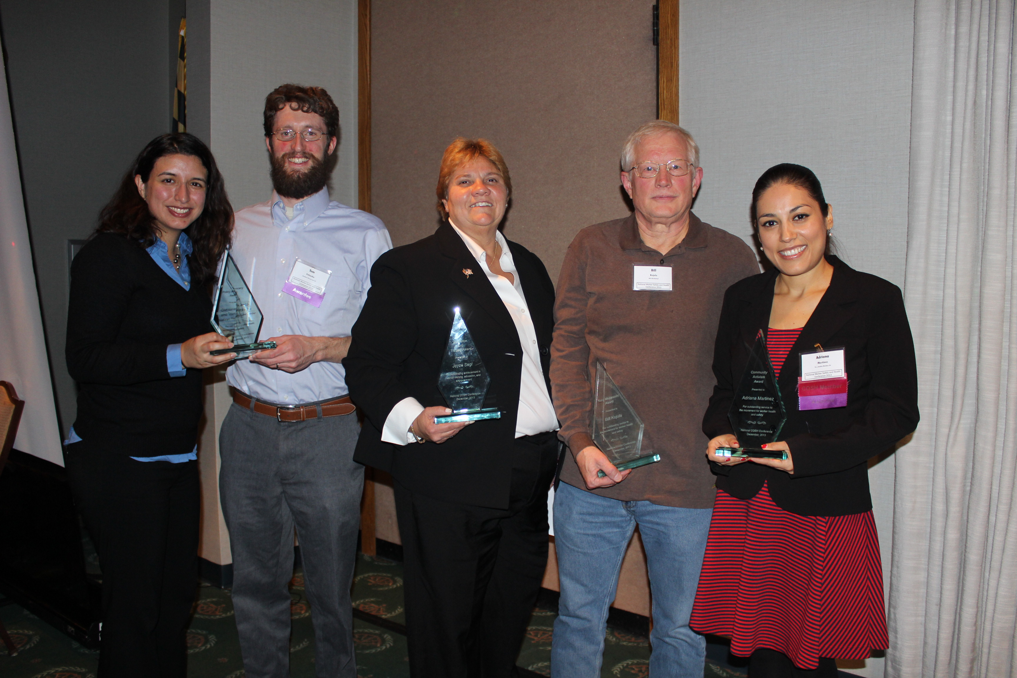 National COSH's 2013 Health and Safety Awardees