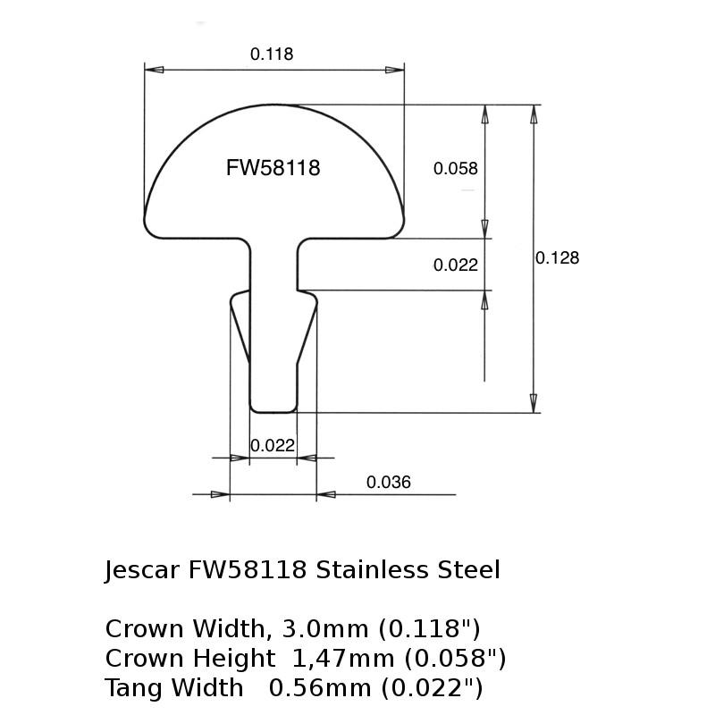 Jescar FW58118 Stainless Steel