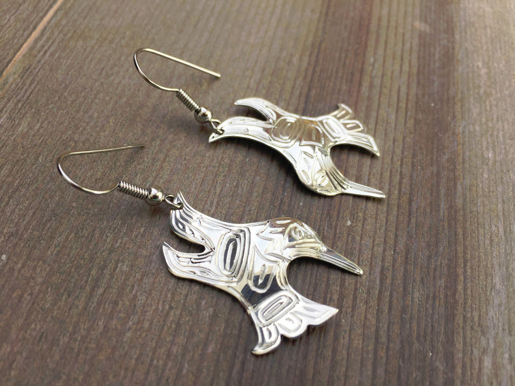 Silver Eagle Earrings