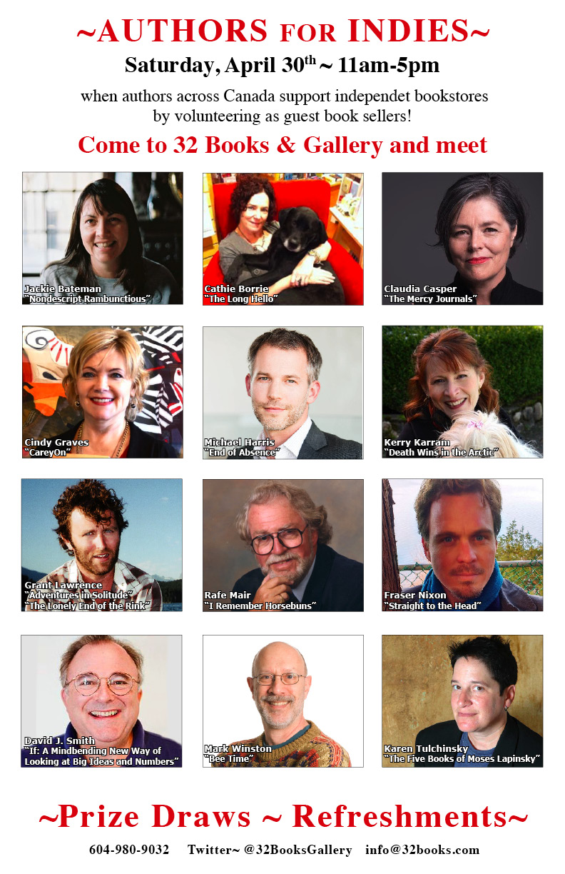 Authors for Indies 2016 Poster