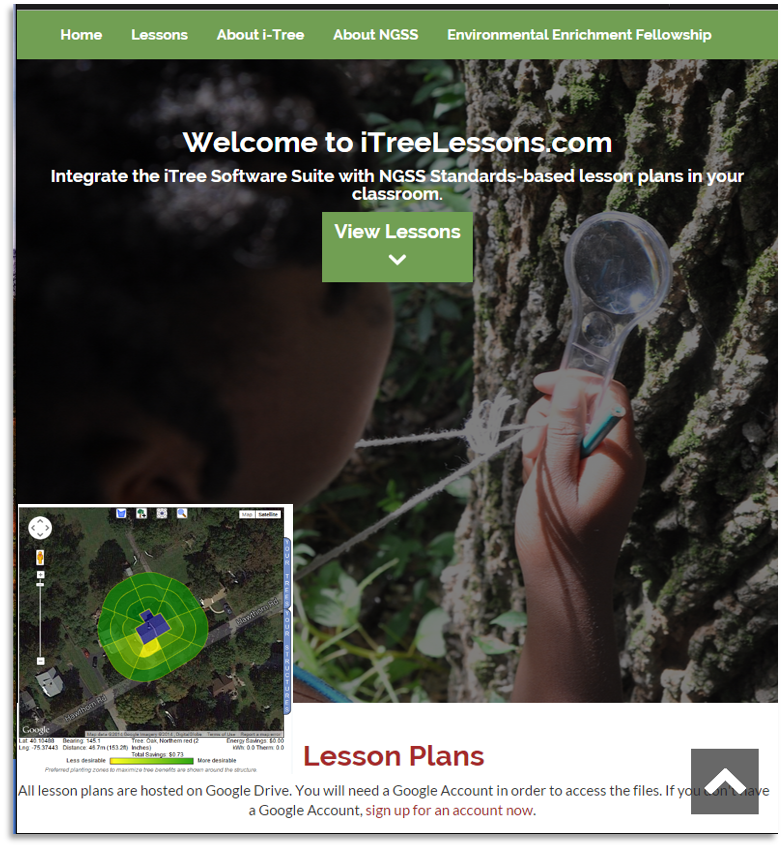 i-Tree Lessons pilot program