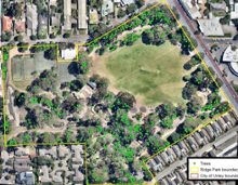 Ridge Park, City of Unley tree locations