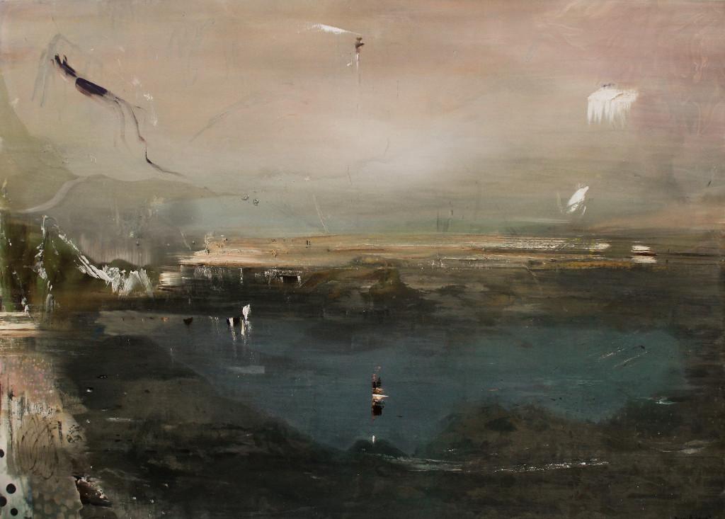 Kevin A. Rausch | Countryside, 210 x 150 cm, 2016, Mischtechnik / Leinwand