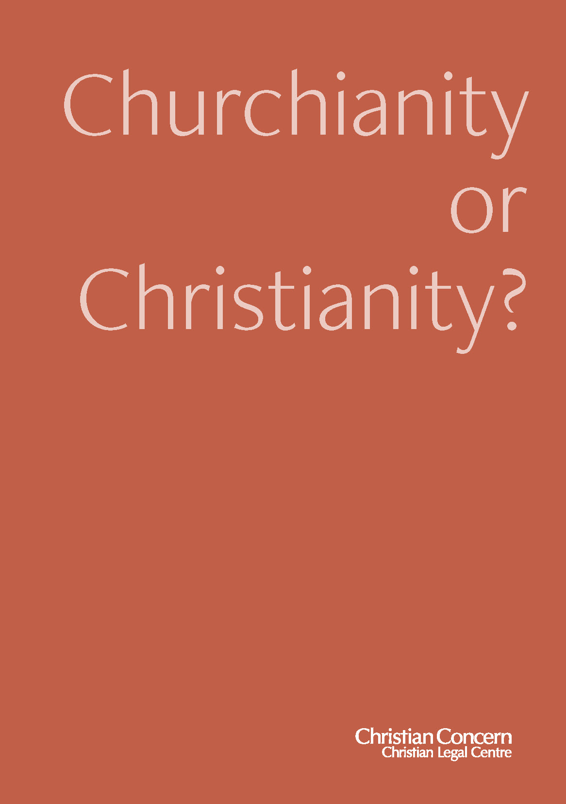 Churchianity Booklet
