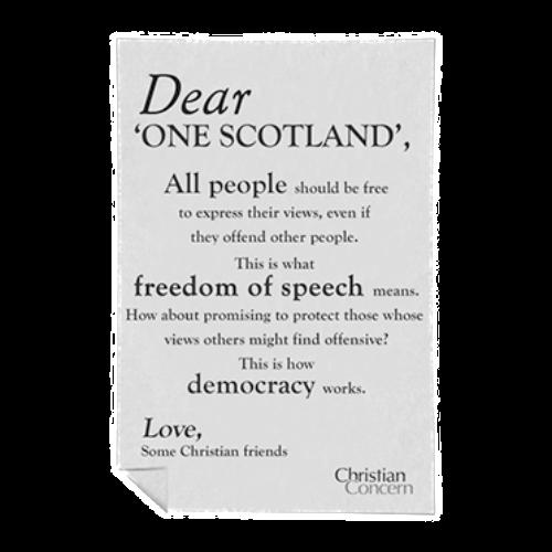 Dear 'One Scotland'