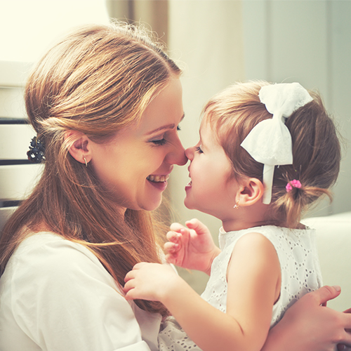Anonymous mother stock photo