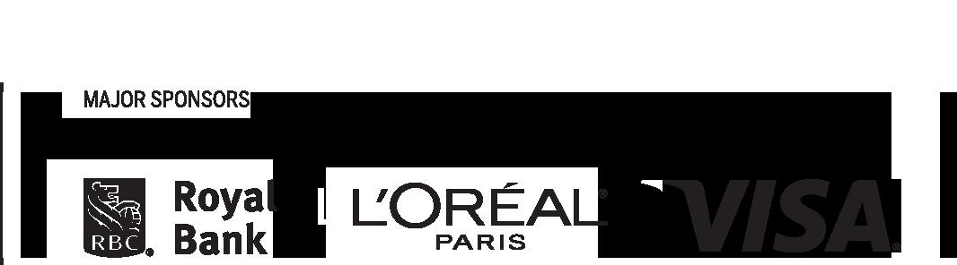 Major Sponsors: RBC, L'Oreal, Visa