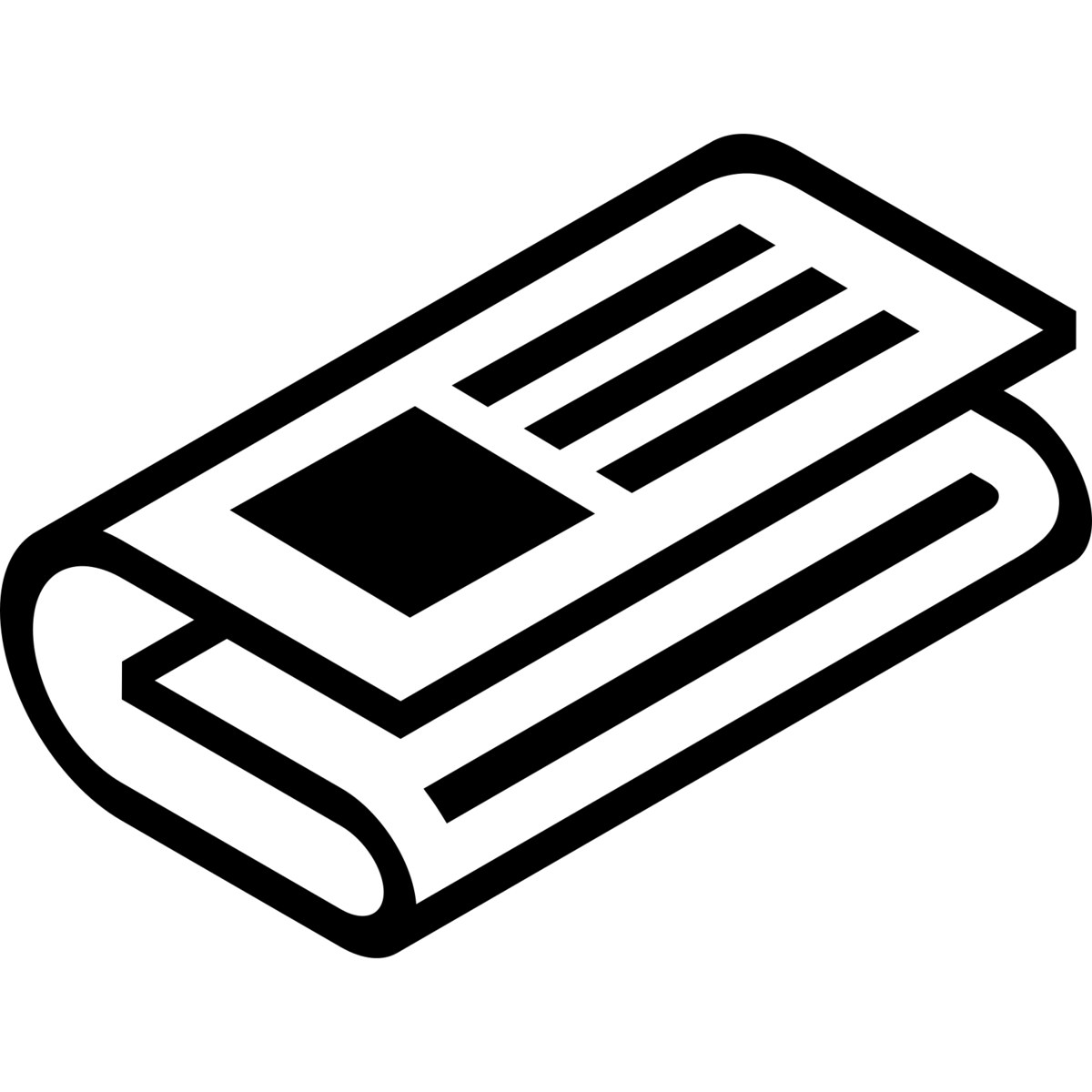 icon of a newspaper