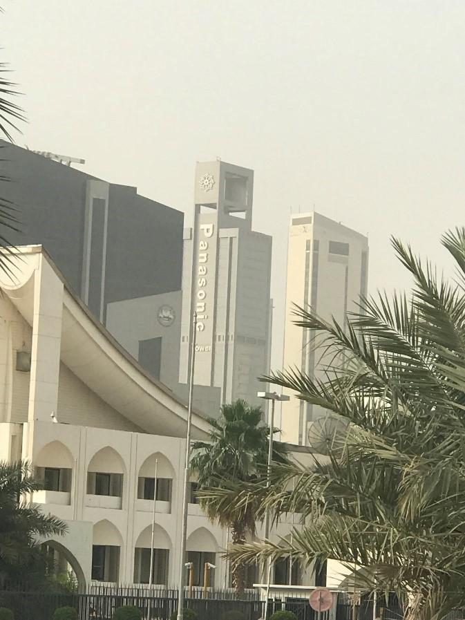 photograph of panasonic tower in kuwait
