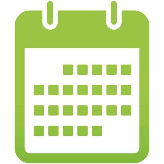 Green Calendar Icon Graphic