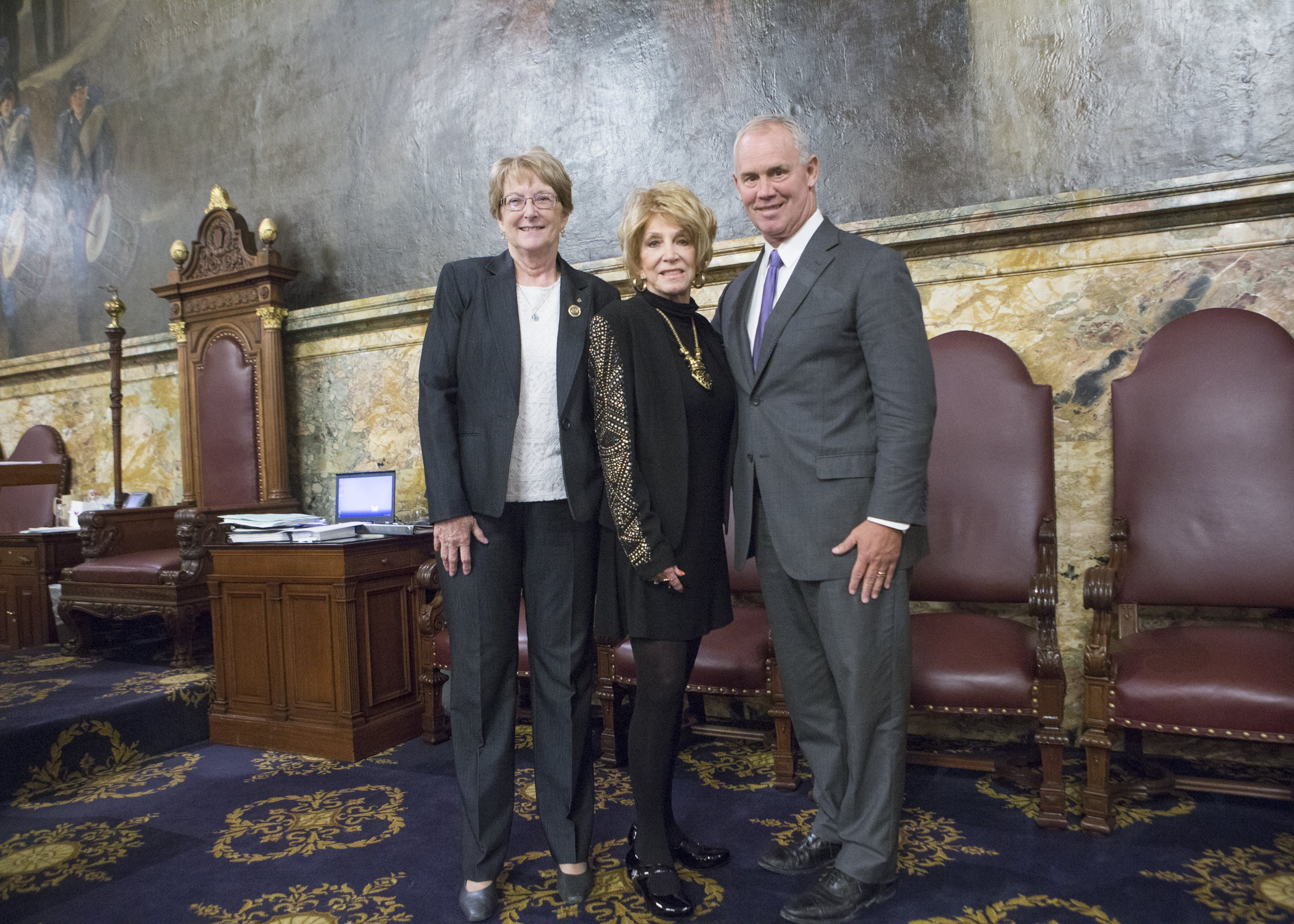 Rep. Kathy Rapp, Jeannie Seely and Mike Turzai Speaker of the House