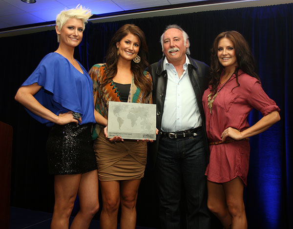 The McClymonts with Steve Moore