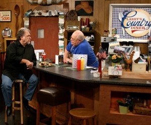 Gene Watson and Larry Black, host of Larry's Country Diner