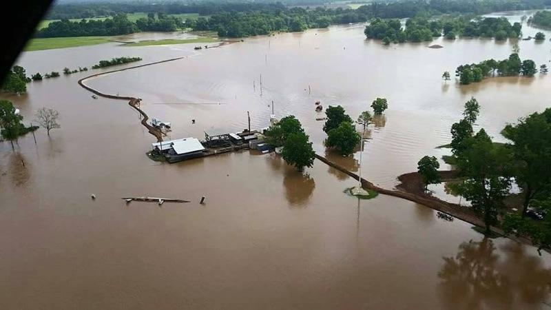 The Kentucky Headhunters - Colfax, LA flood aerial