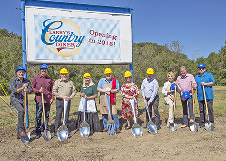 Larry's Country Diner ground breaking