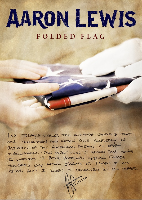 Folded Flag artwork with quote