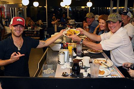 Justin Moore at Waffle House
