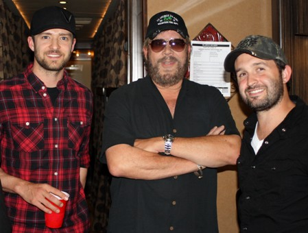 Justin Timberlake, Hank Williams Jr., Trace Ayala