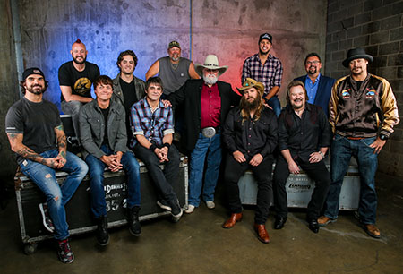 Charlie Daniels 80th Birthday Volunteer Jam group portrait