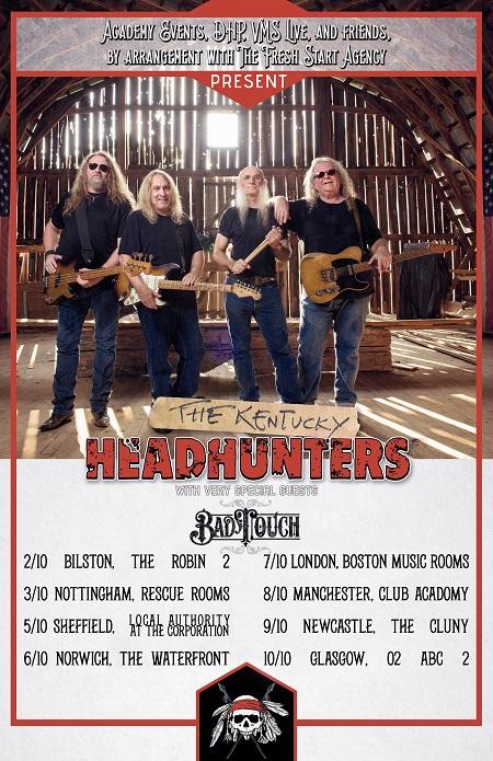 The Kentucky Headhunters U.K. Tour Schedule