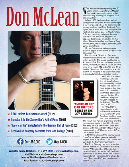 Don McLean - one-sheet