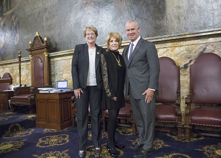 Pictured L-R: Rep. Kathy Rapp, Jeannie Seely and Mike Turzai, Speaker of the House