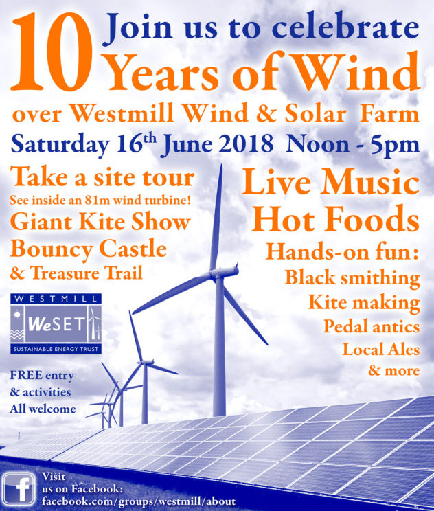 Celebrate 10 years of wind
