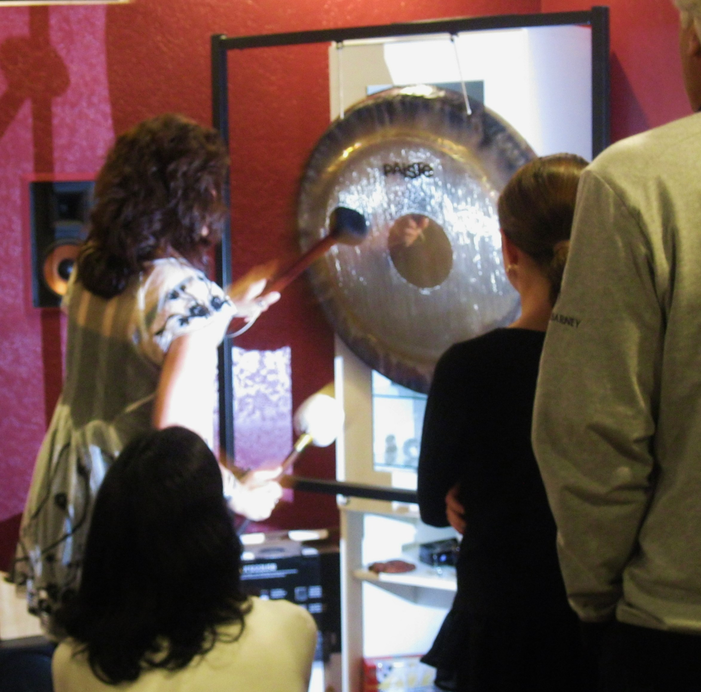 Teri Wilder plays the gong