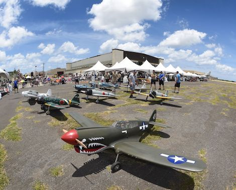 Flight Adventures remote-control planes at Pacific Aviation Museum, Pearl Harbor, Oahu