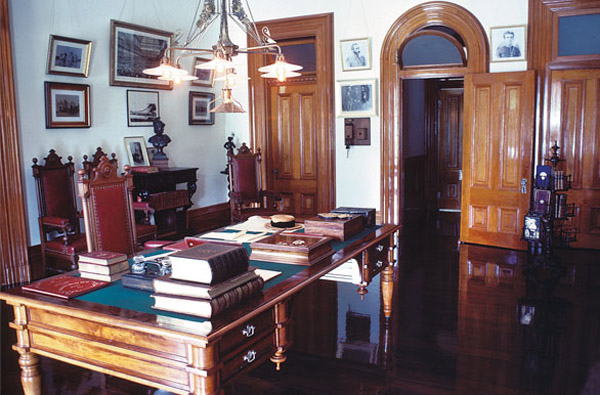 Koa Wood Furnishings at Iolani Palace