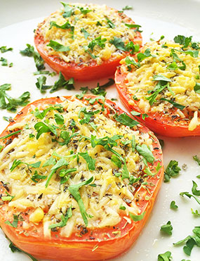 Parmesan-Broiled Hauula Tomatoes