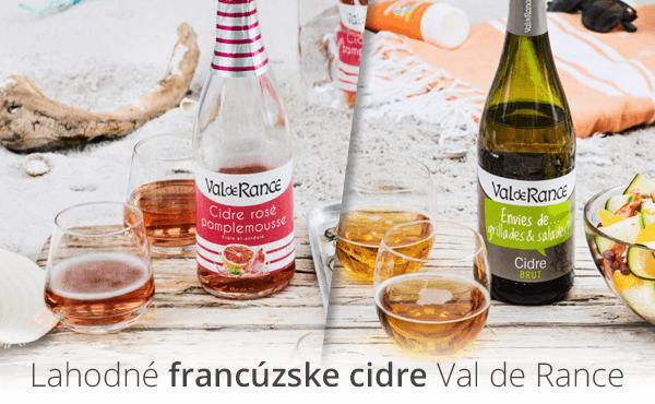 Lahodné francúzske cideri Val de Rance