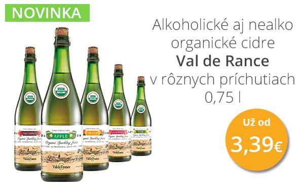 Alkoholické aj nealko ogranické cideri Val de Rance v rôznych príchutiach