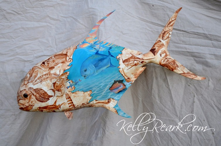 Bahamas Royalty Permit copyright 2017 Kelly Reark fish mount 6 detail