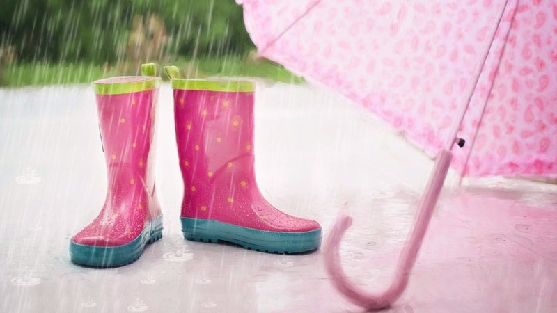 Pink Boots and Pink Umbrella Pictures