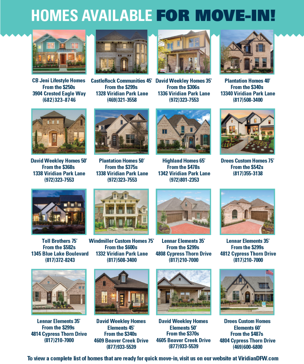 Viridian Move-In Ready Homes