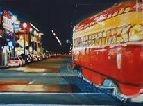 """""""The F Line"""", acrylic on canvas"""