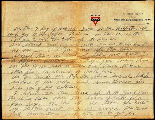 Brumbelow, James L. Pvt. 132nd M.G. Bn. Co. C 36th Division 1918, 236.33.61