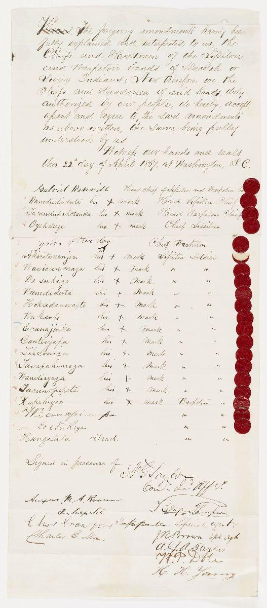 Ratified Indian Treaty 360: Sioux (Sisseton [Sissiton], Wahpeton [Warpeton]) – Washington, DC