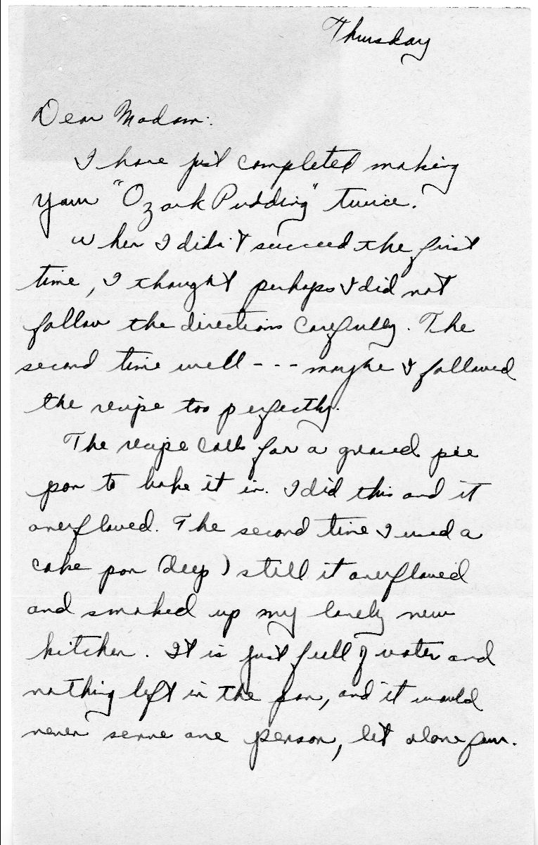 Letter from Anonymous Woman to Bess W. Truman, ca. 1/1949