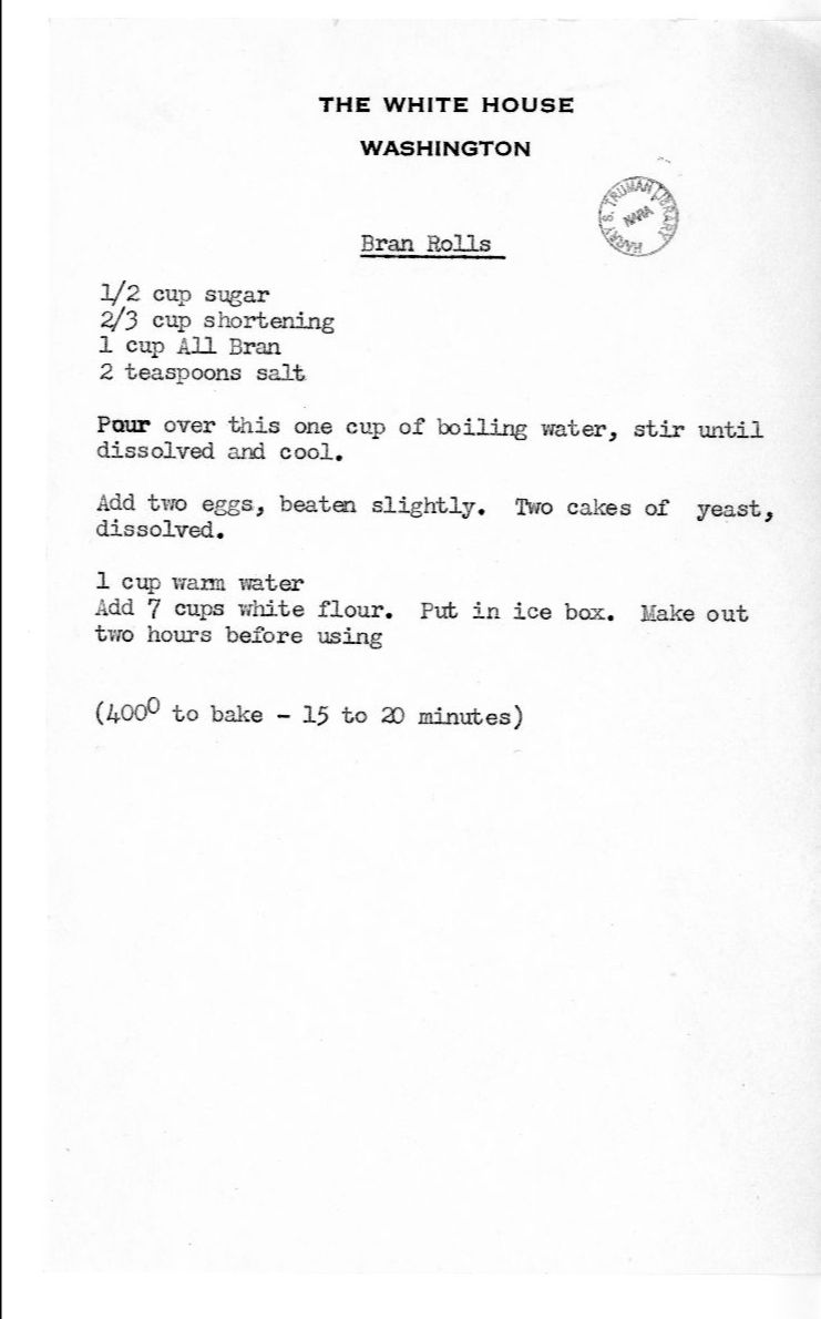 Recipe for Bran Rolls