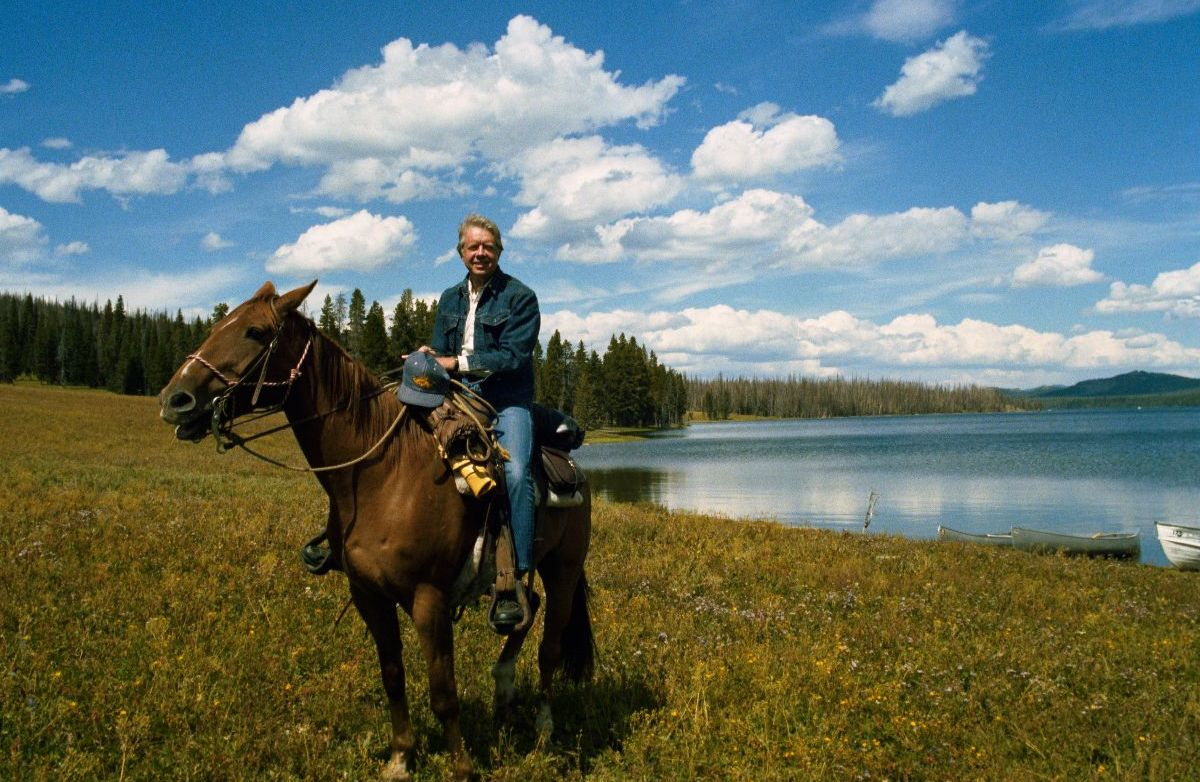 Jimmy Carter in the Grand Tetons, Wyoming