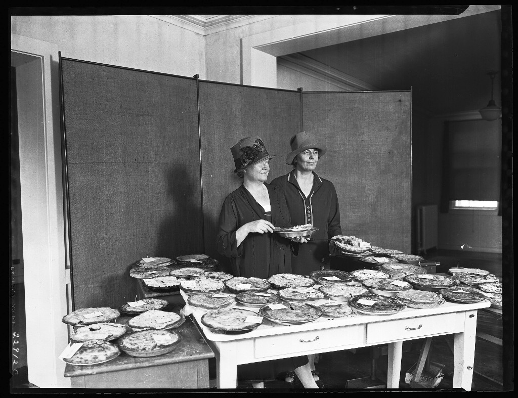 Pie Judging Contest with Dr. Louise Stanley and Mary Lindsay