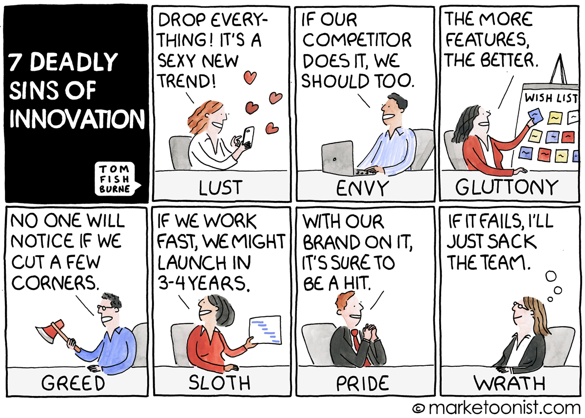 7 deadly sins of innovation