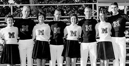 Archival photo - MC cheer squad