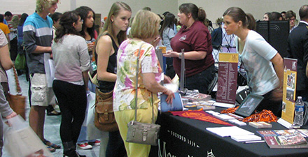College Fair attendees